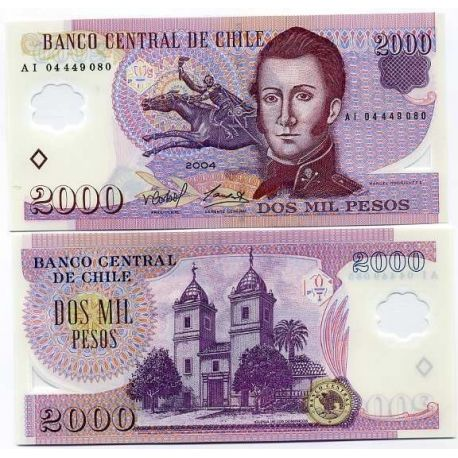 Chili - Pk N° 160 - Billet de 2000 Pesos