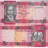 Banknote collection of Sudan of the South - PK N° 11 - 5 Pounds