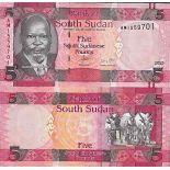 Billet de banque collection Soudan du Sud - PK N° 11 - 5 Pounds