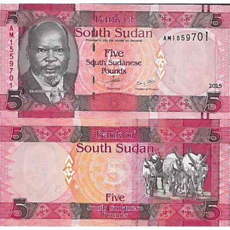 Billets de collection Billet de banque collection Soudan du Sud - PK N° 11 - 5 Pounds Billets du Sud-Soudan 2,00 €