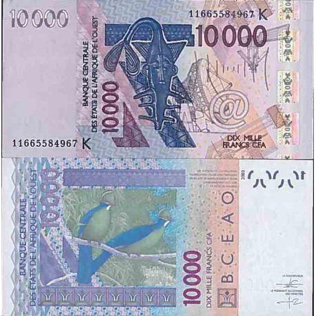 Biglietto di banca raccolta Africa dell'ovest - PK N° 718k - 10000 franchi