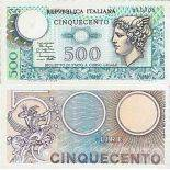 Billet de banque collection Italie - PK N° 94 - 500 Lire