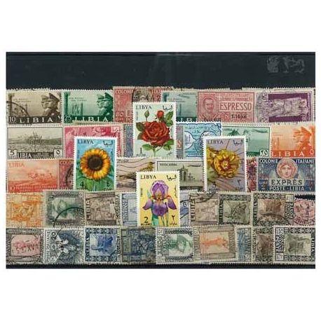 Libyen Italienisch - 50 verschiedene Briefmarken