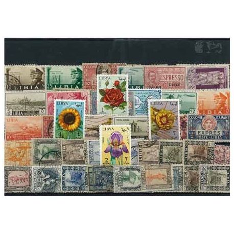 Libye Italienne - 50 timbres différents