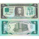 Billet de banque collection Liberia - PK N° 19 - 5 Dollars