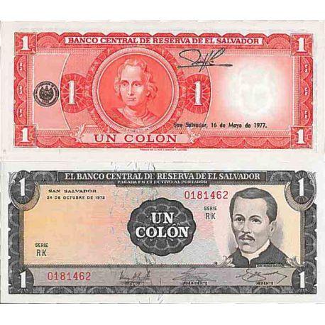 Biglietto di banca raccolta Salvador - PK N° 115 - 1 COLONO