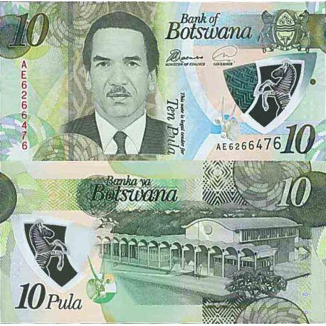 Billete de banco colección Botsuana - PK N° 999 - 10 Pula