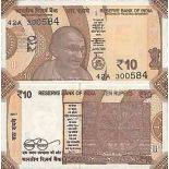 Billet de banque collection Inde - PK N° 999 - 10 Rupee