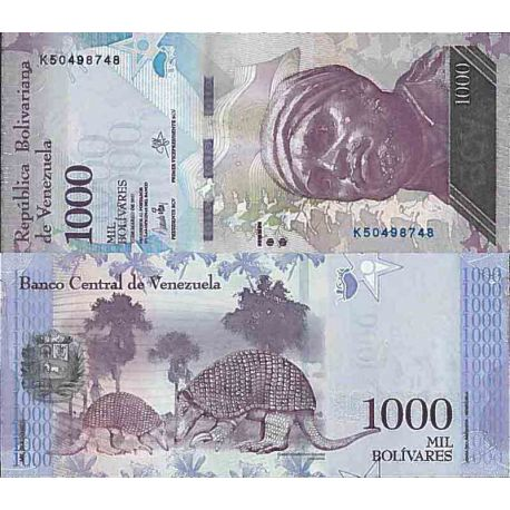 Biglietto di banca raccolta Venezuela - PK N° 95 - 1000 Bolivares