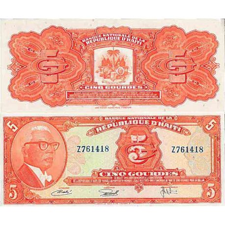 Banknote Haiti collection - PK N° 212 - 5 Gourd