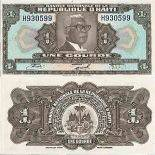 Billet de banque collection Haiti - PK N° 200 - 1 Gourde