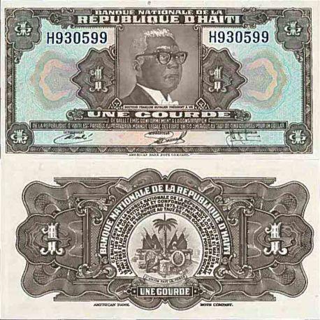Biglietto di banca raccolta Haiti - PK N° 200 - 1 stupido