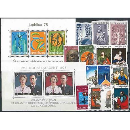 Luxembourg Année 1978 Complète timbres neufs