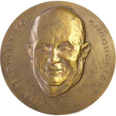 Médaille Nikita Khrouchtchev Visite Paris Mars 1960