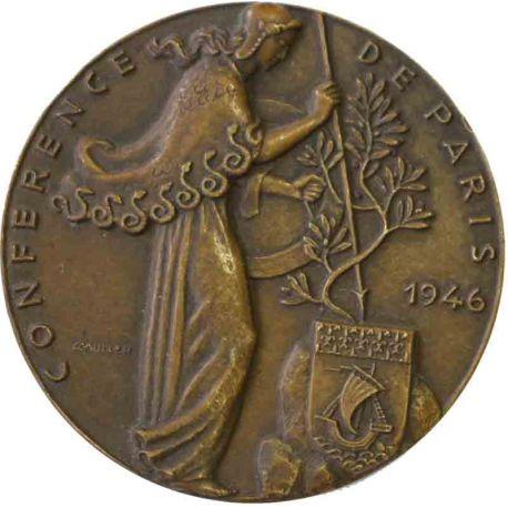 Médaille en bronze Conférence de Paris en 1946 par Muller