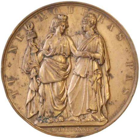 Médaille en bronze A l'Héroïque Pologne