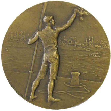 Médaille en bronze sport aviron