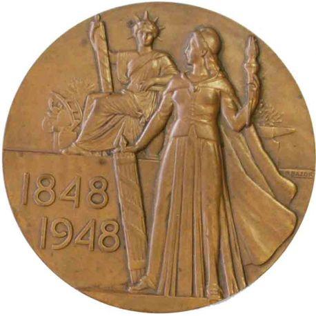 Médaille en bronze par Bazor 1948