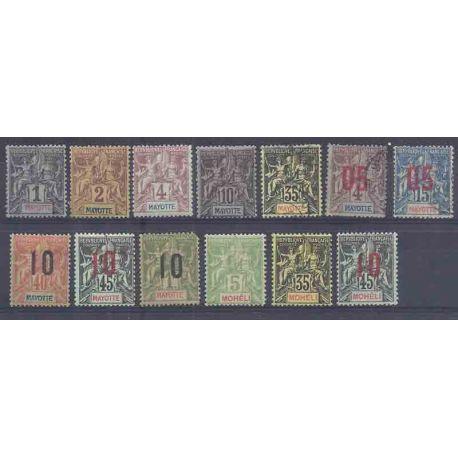 Briefmarkeensammlung Anjouan, Komoren… Neu und gestempelt.