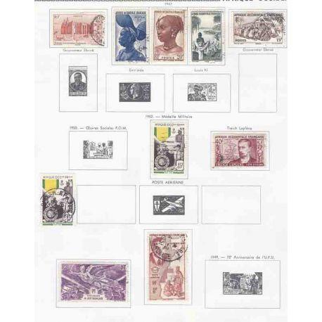 Collection de timbres A.O.F. Neufs et oblitérés.