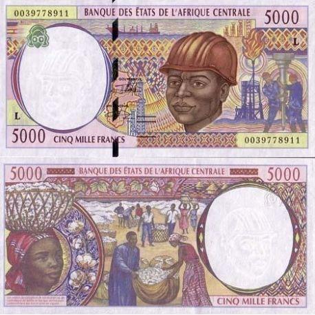 Billets banque Afrique Centrale Gabon Pk N° 404 - 5000 Francs