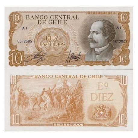 Chili - Pk N° 143 - Billet de 10 Escudos