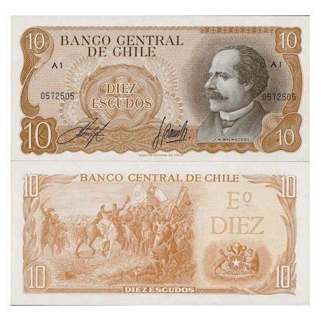 Billets de banque Chili Pk N° 143 - 10 Escudos