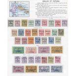 Collection de timbres de Wallis et Futuna Neufs avec charnière.