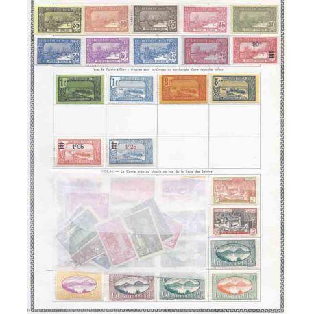 Colección de nuevos sellos de las colonias Francesas de América y borrados.