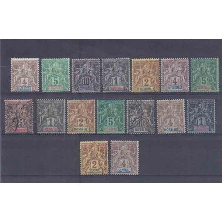 Collection de timbres Diégo Suarez, Nossi-Bé... Neufs et oblitérés.