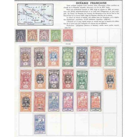 Colección de nuevos sellos de Oceanía, Polinesia y borrados.