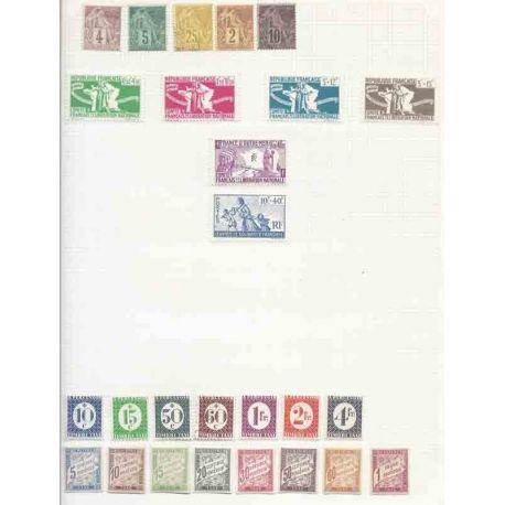 Colonie generali - piccolo insieme di francobolli nuovi e cancellati