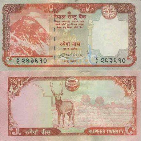 Billet de banque collection Nepal - PK N° 62 - 20 Rupees