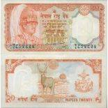 Banknote Sammlung Nepal - PK Nr. 32 - 20 Rupees