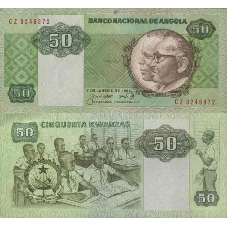 Billet de banque collection Angola - PK N° 118 - 50 Kwanzas