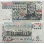 Banknote Sammlung Argentinien - PK Nr. 308 - 100.000 Pesos