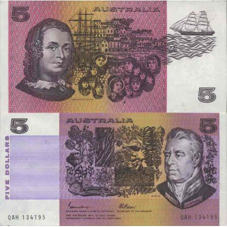Billet de banque collection Australie - PK N° 44 - 5 Dollars