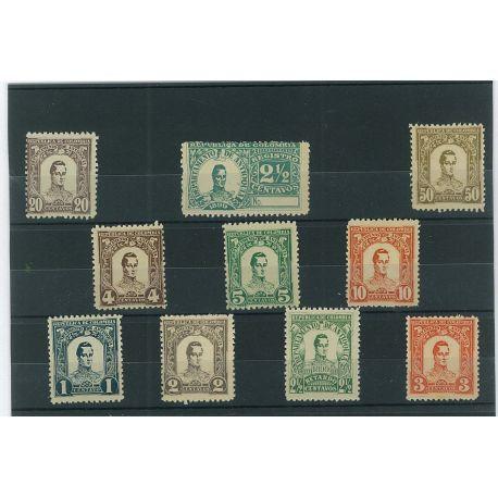 Collection de timbres Antioquia oblitérés