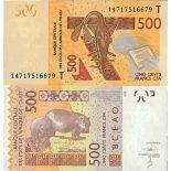 Billete de banco colección África el occidental - PK N° 819T - 500 Francos