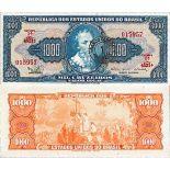 Banknote collection Brazil - N° 187B - 1,000 Cruzados