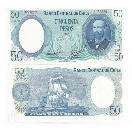 Billets collection Chili Pk N° 151 - 50 Escudos
