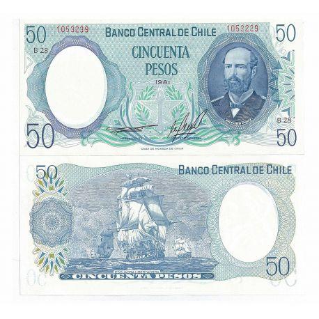 Chile - Pk # 151 - 50 Note Escudos