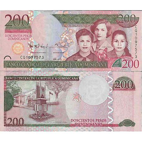 Billets de collection Billet de banque collection Dominicaine Repu. - PK N° 186 - 200 Pesos Billets de République Dominicaine...