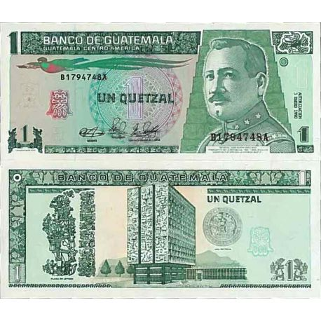 Billets de collection Billet de banque collection Guatemala - PK N° 73 - 1 Quetzal Billets du Guatemala 6,00 €