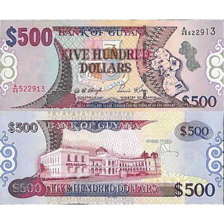 Banknote Sammlung Guyana - PK Nr. 34 - 500 Dollar