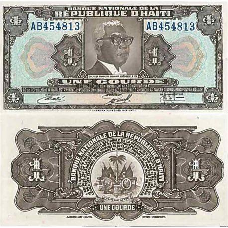 Billets de collection Billet de banque collection Haiti - PK N° 210 - 1 Gourde Billets d'Haiti 10,00 €