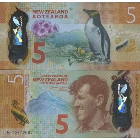 Billete de banco colección Nlle Zelanda - PK N° 191 - 5 Dólares