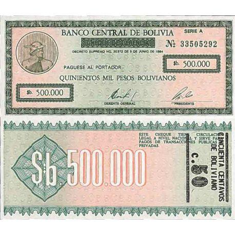 Biglietto di banca raccolta Bolivia - PK N° 198 - 500.000 Bolivianos