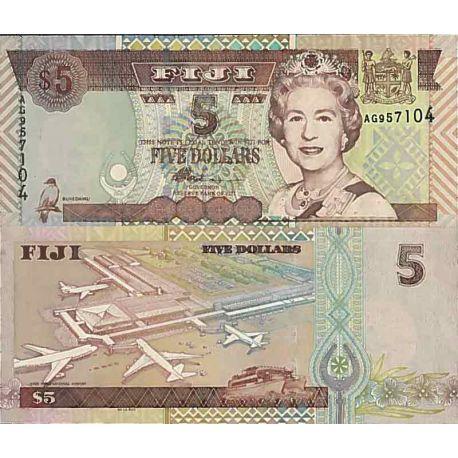 Biglietto di banca raccolta Figi - PK N° 105 - 5 dollari