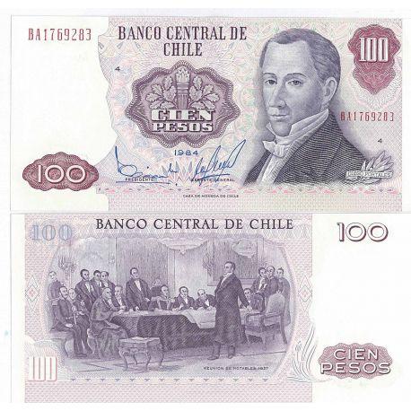 Billet de banque Chili Pk N° 152 - 100 escudos